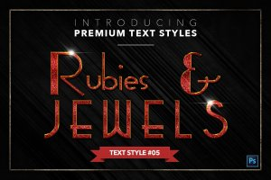 20款红宝石&珠宝文本风格的PS图层样式下载 20 RUBIES & JEWELS TEXT STYLES [psd,asl]插图6