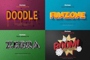 精美3D卡通文字特效PS字体样式 Cartoon Text Effects插图3
