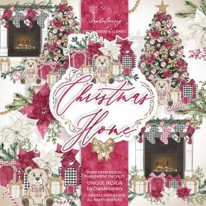 圣诞节客厅装饰剪贴画PNG素材 Christmas Home design插图4