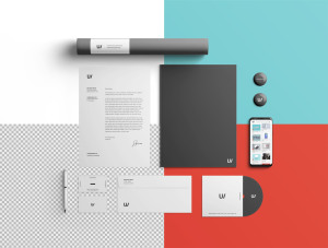 企业品牌VI视觉设计展示办公用品样机套件PSD模板 Stationery Branding & Identity Mockup – PSD插图11