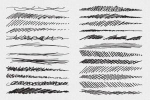 铅笔素描数码绘画AI笔刷 Vector Pencil Sketch Brushes插图(3)
