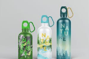 金属运动水杯外观样机模板 Reusable Water Bottle MockUp插图3