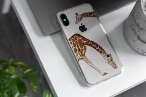 iPhone Xs透明手机壳外观设计效果图样机v2 iPhone Xs Clear Case Mock-Up vol.2插图3