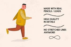 铅笔数码绘画AI画笔笔刷 Pencilcraft Brushes for Adobe Illustrator插图(2)