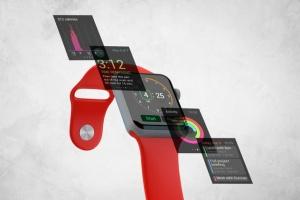 Apple智能手表APP设计展示设备样机V.3 Apple Watch Mockup V.3插图5