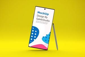 三星大屏手机Note 10屏幕预览样机模板 Note 10 Mockup插图3