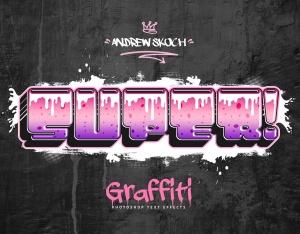 街头涂鸦文字效果PSD分层模板v3 Graffiti Text Effects Vol.3插图3