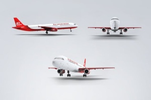空客A321空中巴士中短程客机样机 Jet Airplane A321 Mock-Up插图5