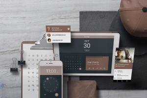 个性化APP&网站设计效果预览样机 App / UI Kit Mockups插图5