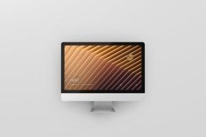 iMac电脑桌面屏幕样机模板 Desktop Screen Mockup插图7