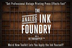 橡胶墨辊印刷效果图层样式 Analog Ink Foundry – PSD Print Kit插图1