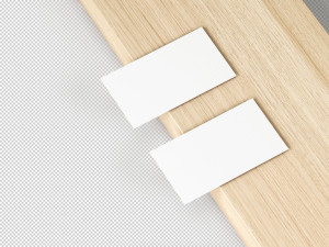 简约高级名片设计效果图样机模板 Slim Business Card Mockup插图2