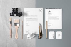 4组企业办公文具等距场景品牌样机套装 4 Stunning Stationery Mockups Set插图4