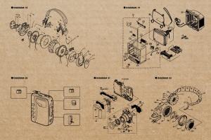 复古视听电器可视化结构矢量图形素材 Retro Diagrams – Audio Visual Edition插图5