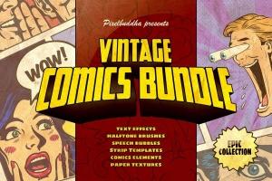 漫威&DC欧美复古漫画插画设计工具包插图(1)