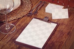 名片/菜单设计品牌VI设计预览样机模板 Business Cards, Menu Mockup插图2
