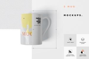 马克杯图案设计多视觉预览样机模板 5 Mug Mockups插图7