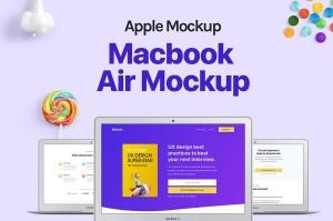 MacBook Air超极本电脑屏幕预览样机模板 Macbook Air Mockup插图2