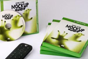 Xbox One游戏光盘封面&包装设计效果图样机 Xbox One Disc Case Mockup插图1