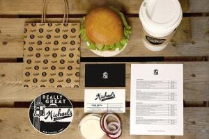 汉堡咖啡品牌样机模板 Burger Cafe Mockup插图3