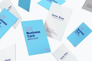 UK标准尺寸高端企业名片设计样机模板05 UK Business Card Mockup 05插图3