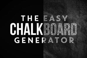 粉笔画粉笔字体样式&PS笔刷 Chalkboard Generator插图2