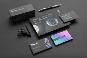 高端黑办公用品套装品牌VI设计效果图样机 Blck Branding Mockup Kit插图4