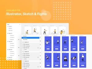 一流设计素材网下午茶:生活方式时尚矢量概念插画素材下载[Sketch,AI,Fig]插图7