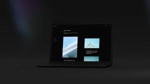 黑色超级笔记本屏幕预览样机模板 Black Laptop Mockup插图4