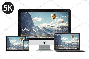 5K高分辨率Apple设备样机合集[白色版本] Apple Mockup products – 1 (white)插图2