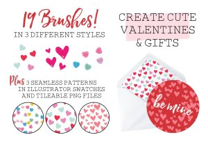 情人节糖果图案PS笔刷 Valentine Confetti Kit插图2