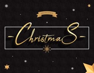 圣诞节主题海报文字样式PSD分层模板 Christmas Text Effects插图2