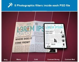 电子版报纸版式设计效果图样机 Newspaper App MockUp插图7
