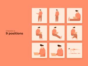 一流设计素材网下午茶:自由职业者插图集[AI]插图2