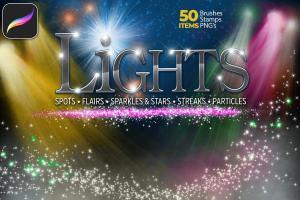 50个Procreate专用的灯光特效笔刷套装插图6