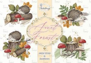 甜蜜森林手绘设计插画PNG素材 Sweet Forest design插图3