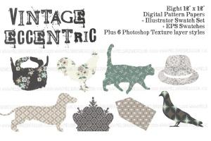 复古怪诞时尚设计矢量素材包 Vintage Eccentric Designers Toolkit插图9