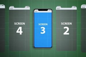 iPhone X应用程序演示设备样机V.1 Animated iPhone X MockUp V.1插图7
