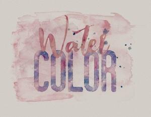 5款添加水彩文字效果PSD分层模板 5 Watercolor Text or Shape Effect Templates插图4