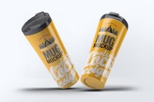 旅行水杯外观设计样机模板 Travel Tumbler Mug Mock-Up插图7