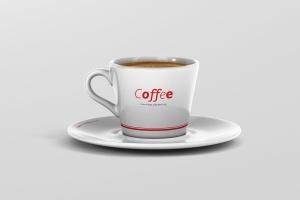 高品质的咖啡马克杯样机展示模板 Coffee Cup Mockup – Cone Shape插图1