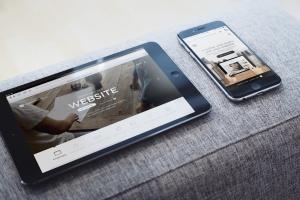 响应式网站设计案例演示多设备样机模板 Responsive Web App Display Mock-Up插图1