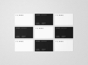 企业名片设计等距网格效果图样机 Uniform Overhead Business Cards Mockup插图2