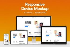 响应式网站设计效果图预览样机 Responsive Device Mockup 01插图1