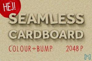 无缝加厚色卡纸材质PS字体样式 SEAMLESS CARDBOARD插图1
