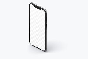 iPhone XS Max手机APP应用UI设计样机左视图样机02 iPhone XS Max Mockup, Isometric Left View 02插图2