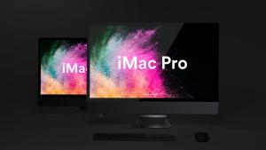 酷黑背景iMac Pro一体机电脑样机模板 Dark iMac Pro Mockup插图7