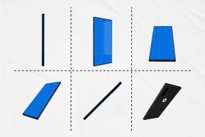 三星智能手机Note 10多角度预览样机模板 Note10 Kit插图3