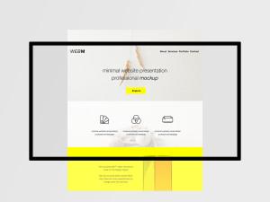 极简主义设计风格扁平化网站设计效果预览样机模板 Minimal Flat Website Presentation Mockup插图1