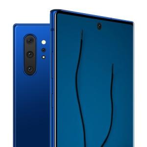 三星智能手机Note 10前视图和后视图样机PSD模板 Note 10 Front and Back Layered PSD MockUps插图3